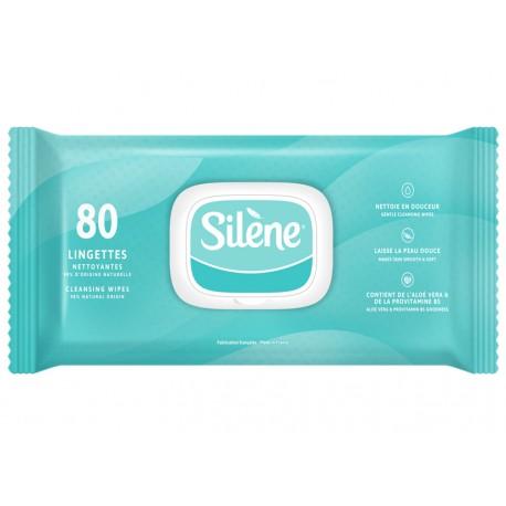 Lingettes nettoyantes Silène (quantité 80)