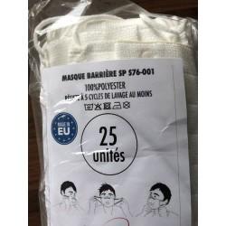 Masque lavable résiste à 5 cycles au moins