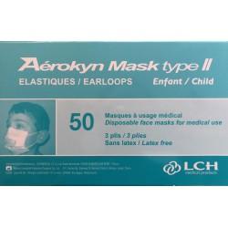 Masques enfant 3 plis jetables (boîte de 50)