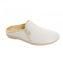 Pantoufles Mules confort BR 3181 blanc/or
