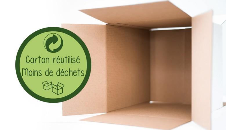 Carton de livraison réutilisé
